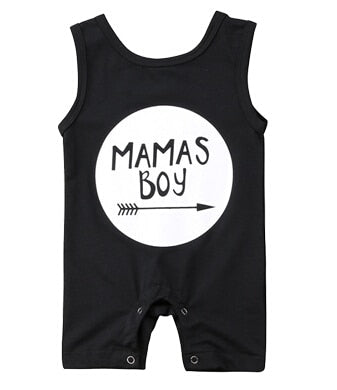 Cotton Newborn Baby Boy Sleeveless Romper Letter printed Boy Jumpsuit Clothes sunsuit baby clothing-eosegal