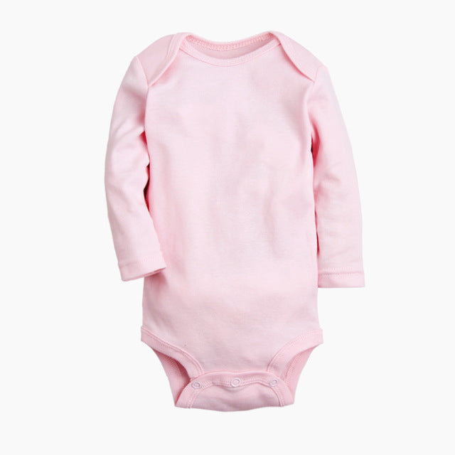 Solid Baby Girl Bodysuits 100% Cotton Newborn Full Sleeve Body Clothing Infant Jumpsuits Toddler Clothes Baby Boy Bodysuit-eosegal