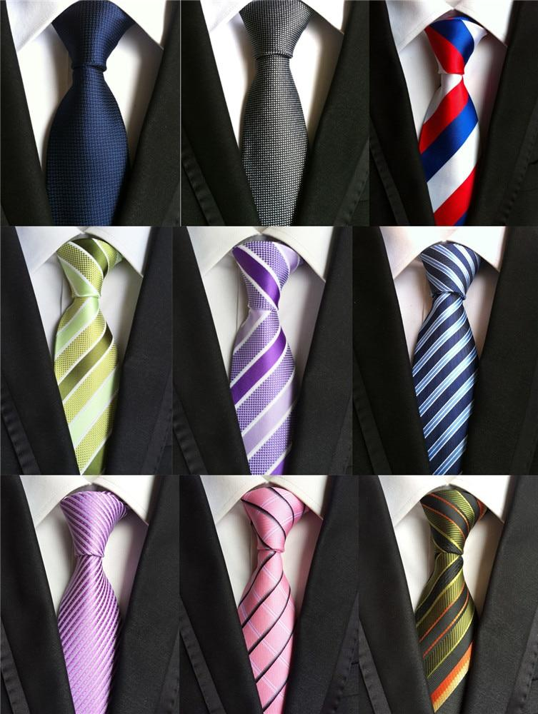 Accessories Ties for Men Striped Pattern Business Silk Tie Pink Red Blackeosegal-eosegal