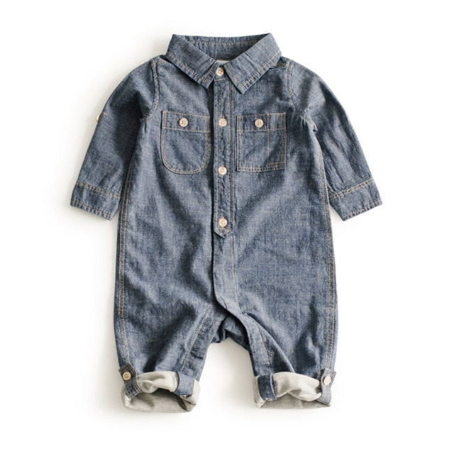 3-24M Hooded baby boy clothes Blue Baby boy Romper Denim Newborn clothes Animal Giraffe Jumpsuit Top Roupas Fashion baby onesie-eosegal