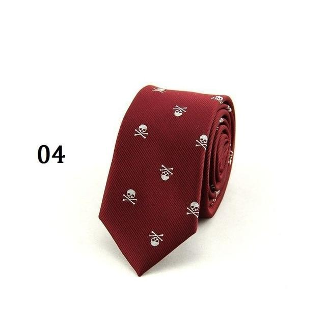 Skull Neck Tie for Men 6 colors Halloween Party Slim Ties 6cmeosegal-eosegal