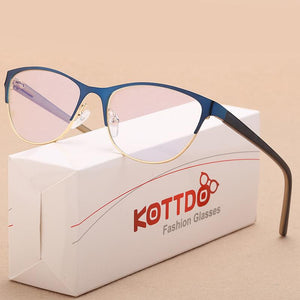 New Fashion Men Cat Eye Glasses Frames for Women Myopia Opticaleosegal-eosegal