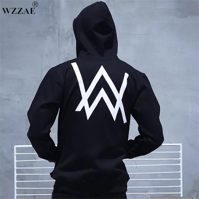 Winter Fleece Sweatshirt Alan Walker Faded Hoodie Men Sign Printing Hip hopeosegal-eosegal