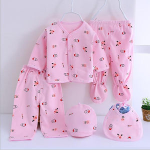 (5pcs/set)Newborn Baby 0-6M Clothing Set Brand Baby Boy/Girl Clothes 100% Cotton spring Cartoon Underwear,Free Shipping OT002-eosegal