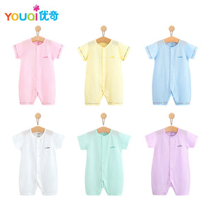 YOUQI Summer Baby Rompers 100% Cotton Brand Baby Girls Clothes Boys Pajamas Suit 3 6 9 Months Infant Jumpsuit Clothing For Baby-eosegal
