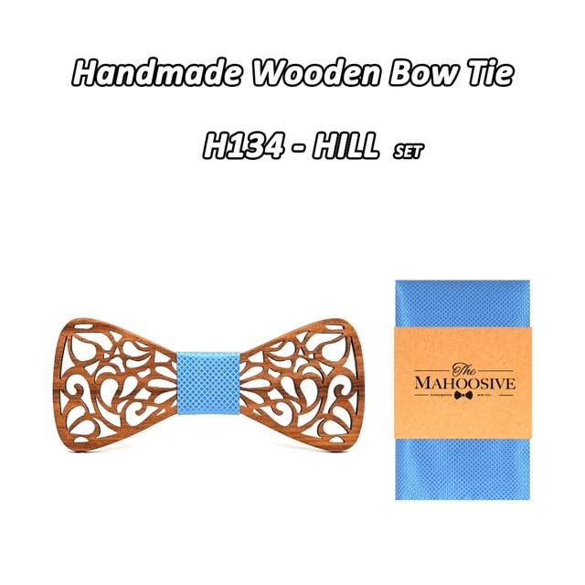Mahoosive New Floral Wood Bow Ties for Men Bowtie Hollow Butterflies Weddingeosegal-eosegal