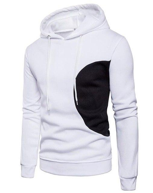2018 New Fashion Hoodies Brand Men Fashion Spell Color Sweatshirt Male Hoodyeosegal-eosegal