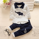 BibiCola newborn baby boys Clothing sets top+pants infants animal clothes set kids toddler Autumn set boys sport tracksuit set-eosegal
