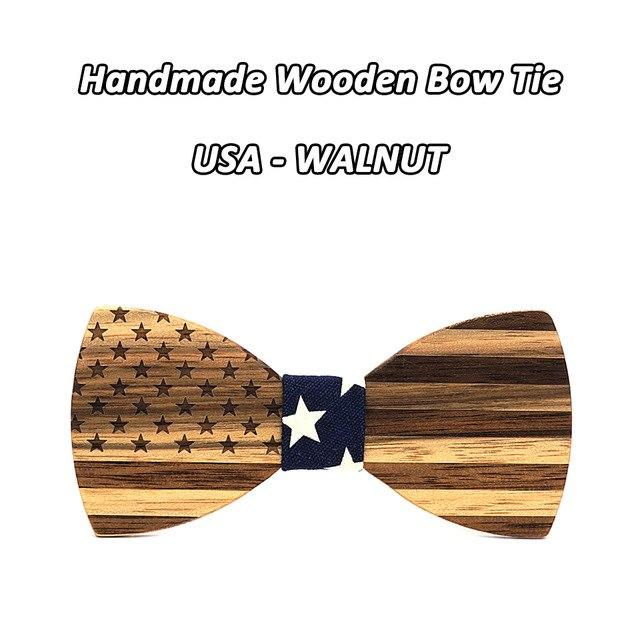 Mahoosive Walnut Wooden Bow Ties For Men Wedding Neckwear Set Accessories USAeosegal-eosegal