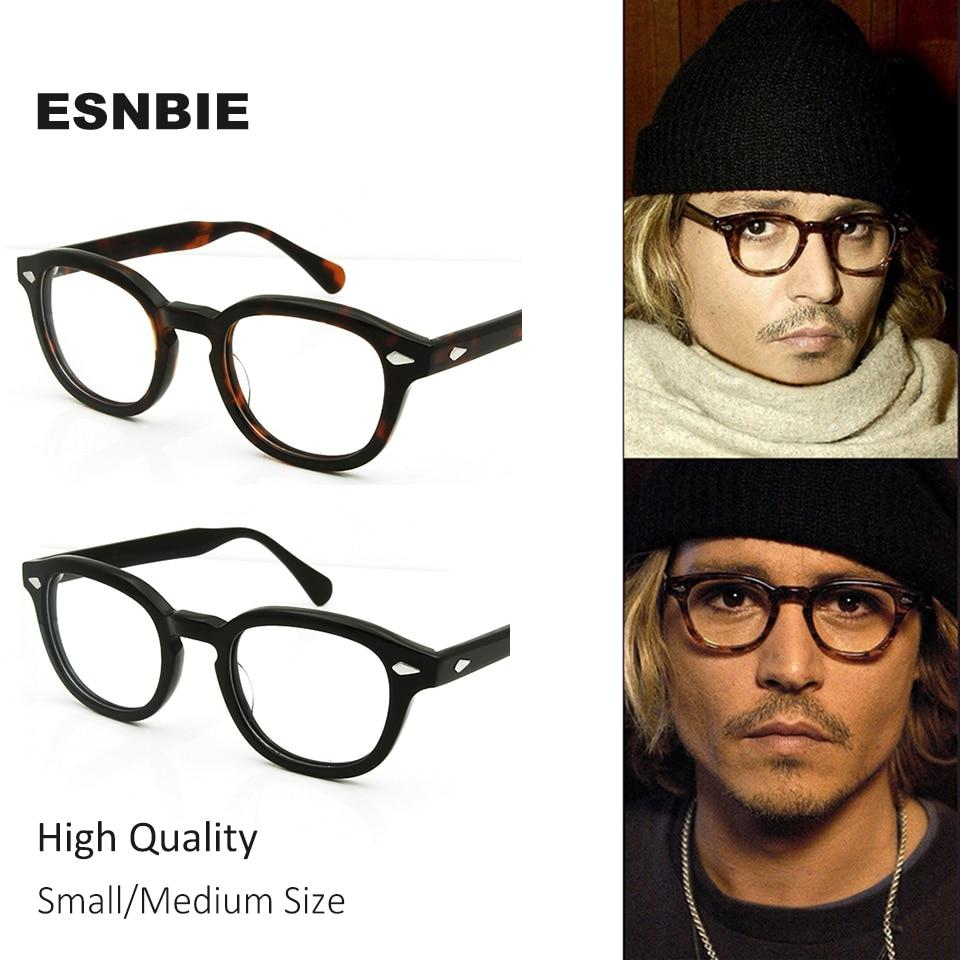 High Quality Acetate Johnny Depp Style Glasses Men Retro Vintage Prescriptioneosegal-eosegal