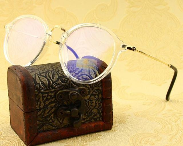 2018 Retro Myopia Glasses Frame Men Woman Round Cycle Eyeglasses Computereosegal-eosegal