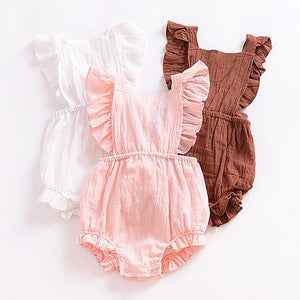 2018 Baby Romper Sleeveless Hollow Out Bownot Climbing Suit Baby Girl Clothes Rompers Baby Girl Summer Clothes H1-eosegal