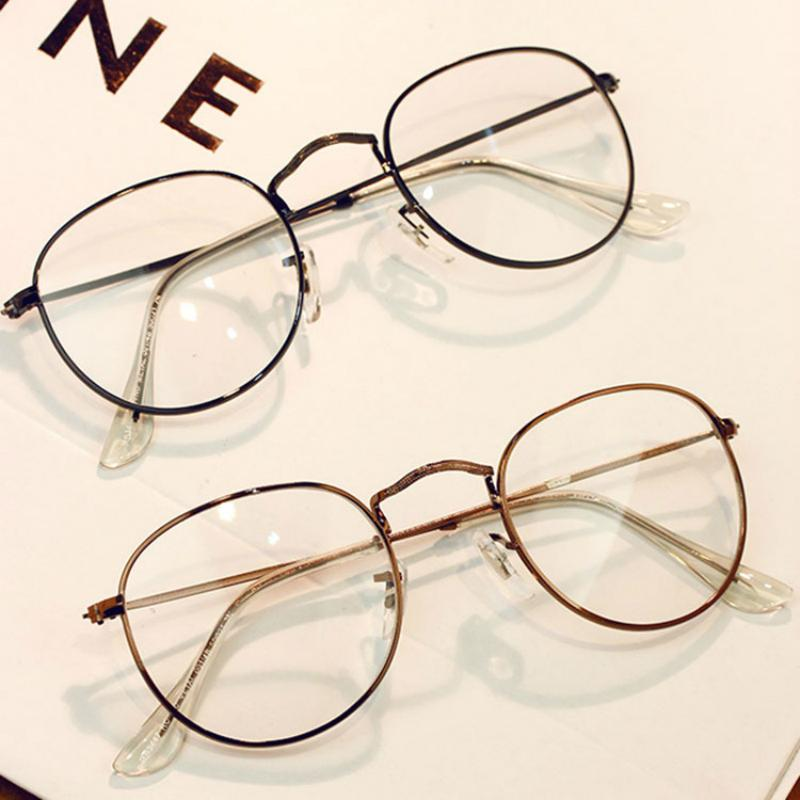 2018 New Hot Personality Vintage Metal Trend Round eyewear Frame For Women'seosegal-eosegal