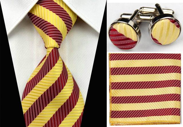 Men's Necktie Sets Business Suite Gravatas Slim Striped Plaid Neck Ties Weedingeosegal-eosegal