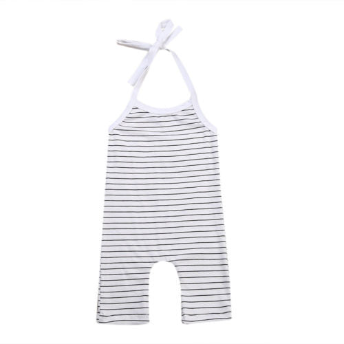 2017 New Newborn Baby Girl Boy Stripe Cotton Sleeveless Romper Jumpsuit Outfits Sunsuit Clothes-eosegal
