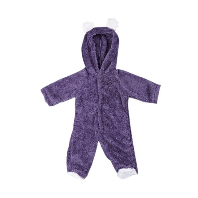 Baby Rompers Newborn Baby Girl Clothes Set Cute 3D Bear Ear Jumpsuit Baby Boy Clothes Set Autumn Winter Warm Baby Clothing Set-eosegal