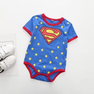 Summer Baby Clothing Cartoon Batman Spiderman Superman Baby Boys Girls Rompers Infant Costume Baby Ropa Bebe Jumpsuits Playsuits-eosegal