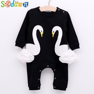 Sodawn 2018 Infant Clothes Unisex Baby Clothing Cute Cartoon Giraffe Rainbow Baby Long Sleeve Baby Suit Fashion Children Clothes-eosegal