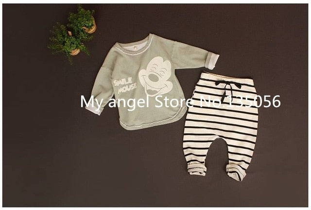 Retail 2018 New Summer style baby boy girl Minnie& mickey Sports fleece baby the spring and autumn period and the leisure suit-eosegal