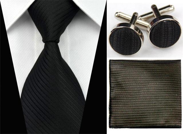 Accessories Ties for Men Solid Striped Pattern Business Silk Tie Sets Hankyeosegal-eosegal