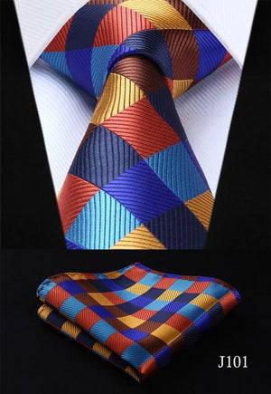 "Men ties designers Fashion 20 style Necktie Woven Gravata 3.4"" Classic Handkerchiefeosegal-eosegal"