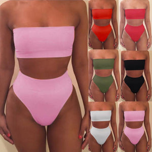 2018 Women Bandage Bikini Bra Swimsuit Bathing 2pcs Set Swimwear drop shipping-eosegal