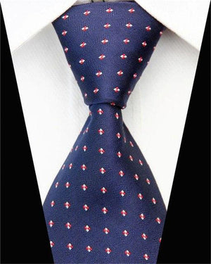 Man Formal Business Silk Necktie Jacquard Woven Men Suit Ties Geometric Dotseosegal-eosegal