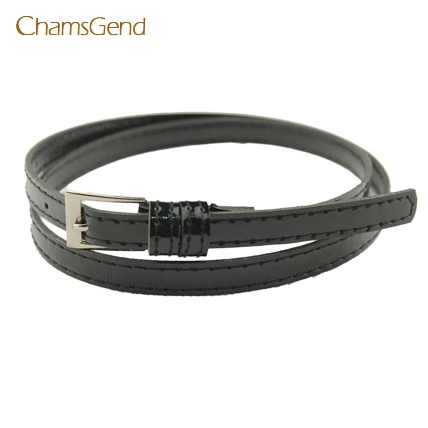 Chamsgend Coolbeenr belts for women belt Hot Beautiful Woman Multicolor Small Candy Color Thin Leather Belt Dec9-eosegal