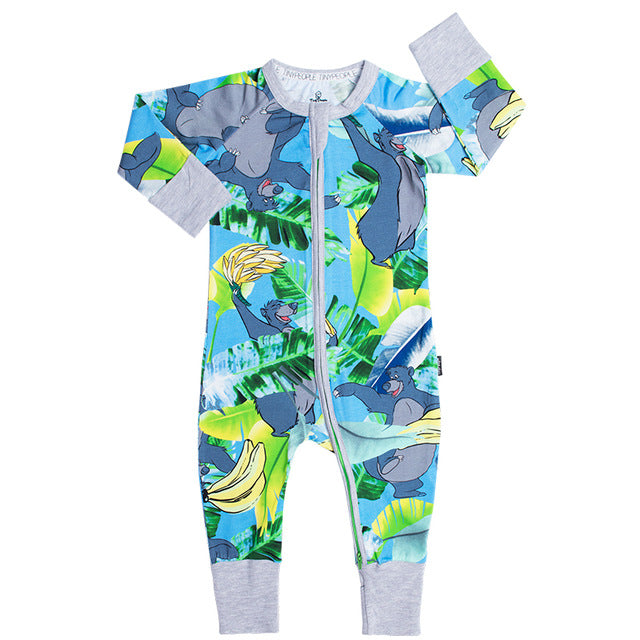 Rare Baloo Banana Wondersuit Printed Long Sleeve Baby Boy Girl Clothes Cotton Jumpsuit Tiny Cottons Baby Rompers Newborn-eosegal