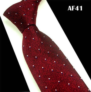 SCST 2017 New Brand Designer White Dot Print Red Silk Neck Tieseosegal-eosegal