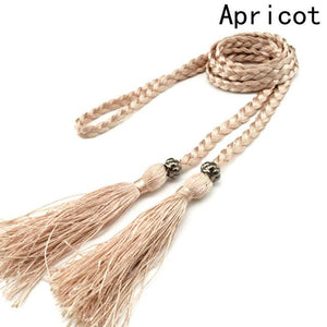 2017 Braided Fringed Belt Women Fashion Accessories Unique Exquisite Birthday Romantic Beautiful Elegant Gift-eosegal