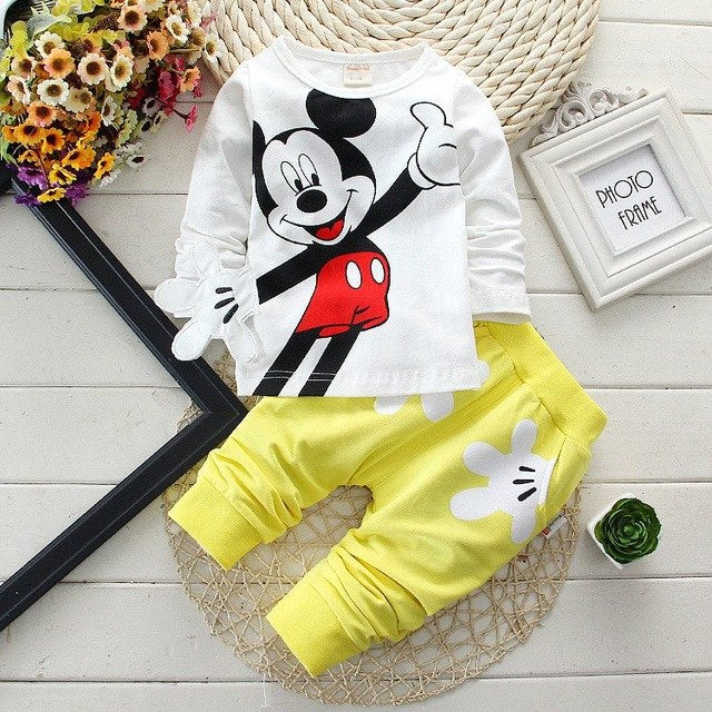 Baby Boy Clothes Spring Autumn Cartoon Long Sleeved T-shirts Tops + Pants 2PCS Infant Clothing Outfits Kids Bebes Jogging Suit-eosegal