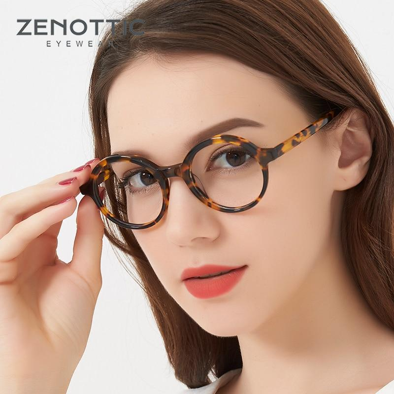 Retro Optical Glasses Women Round black Tortoise Horn Rimmed Glasses Frame Cleareosegal-eosegal