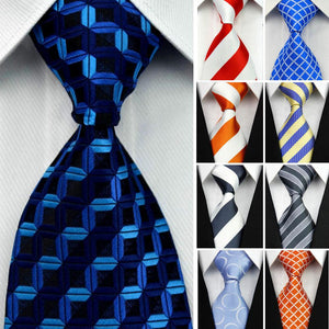 "4""/10cm Wide Gravatas Mens Accessories Striped Geometric Pattern Business Silk Tie Necktieeosegal-eosegal"