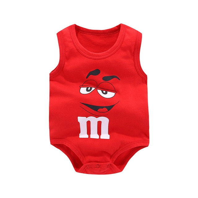 Baby rompers Summer sleeveless newborn baby boys clothes Cotton Fashion printing baby girls clothes for 0-24M kids baby clothes-eosegal