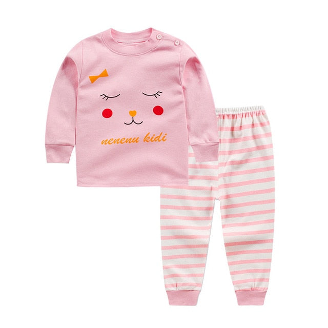 Winter Newborn baby clothes set cotton Baby girls Clothes 2PCS Cartoon baby Boy Clothes Unisex kids Clothing Sets bebes-eosegal