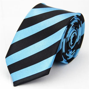 Slim Necktie Mens Accessories Wedding Skinny Tie for Men Jacquard Woven Stripedeosegal-eosegal