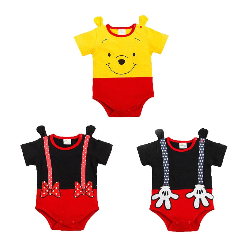 Newborn Baby Boy Clothes Cotton Rompers Summer Short Sleeve Cartoon Ropa Bebe overalls Infant Baby Jumpsuits Lovely Bear toddler-eosegal