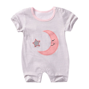 Summer New style baby rompers Short sleeve Newborn Infant Baby Boy Girl clothes Cute Cartoon Printed Jumpsuit Climbing Clothes-eosegal