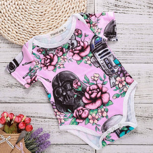 China Imported Baby Boy Girl Clothes Funny Letter Bodysuit Toddler Baby Clothing White Short Sleeve Tiny Cottons Outfits Onesie-eosegal