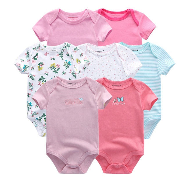 7 PCS/lot newborn baby clothes baby rompers short sleeve baby jumpsuit boy girls roupa de bebe Baby boy girl Clothing-eosegal