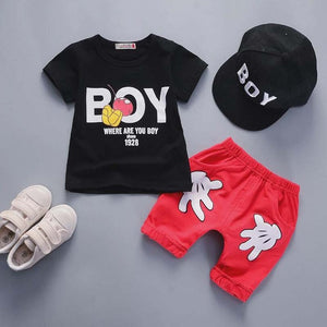 BibiCola 2018 baby boys clothing sets summer 2pcs T-shirt+pants bebe clothes outfits infant toddler boys tracksuit active style-eosegal