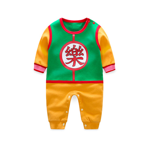 878faa8f553e YiErYing Baby Rompers 100% Cotton Chinese Characters Printing Dragon Ball  Newborn boy girl Long Sleeve