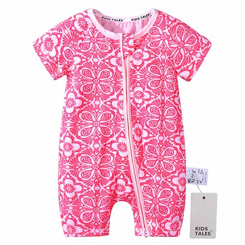 2018 New Baby romper newborn infant baby boys girls cartoon print short sleeves romper summer baby clothingBBR177-eosegal