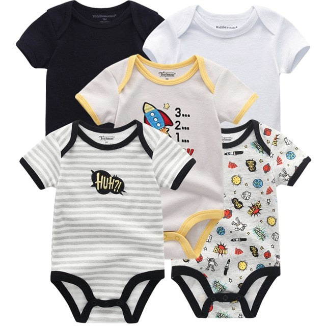 5PCS/LOT Baby Rompers 2018 Short Sleeve 100%Cotton overalls Newborn clothes Roupas de bebe boys girls jumpsuit&clothing-eosegal