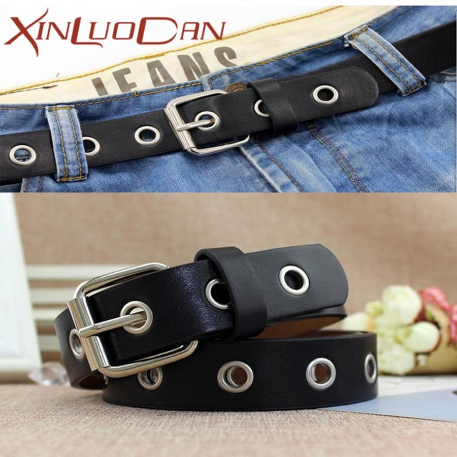 Punk Belt For Jeans PU Leather Vantage Belts Women Luxury Brand Accessories Style Female Cintos Ceinture For Jeans WB039-eosegal