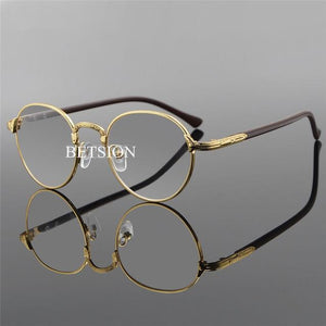 Vintage Oval Gold Eyeglass Frame Man Women Plain Glasses Clear Full-Rimeosegal-eosegal