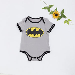 Short Sleeve Superman Baby Romper Batman Newborn Baby Boy Clothes Toddler Outfit Set Summer Style Birthday Costume Kid-eosegal