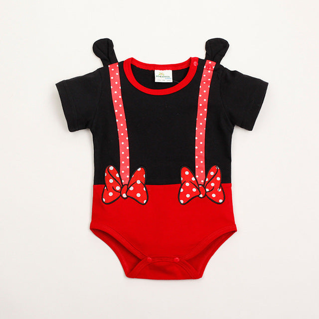 Summer Leisure Baby Clothes Minnie Rompers Mickey Cartoon Newborn Boy Girl Clothing 100%Cotton Short Sleeve Baby Triangle romper-eosegal