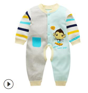 Soft Cotton Baby Unisex Rompers Overalls Newborn Clothes Long Sleeve Roupas de bebe Infantis Boy clothing Set Baby Jumpsuit-eosegal